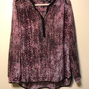 Wine and pink design top